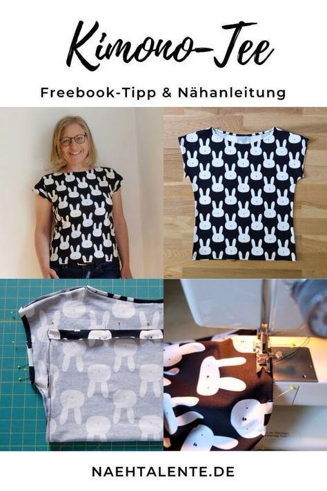 Kostenloses Schnittmuster: Kimono Tee von Maria Denmark & deutsche Nähanleitung...
