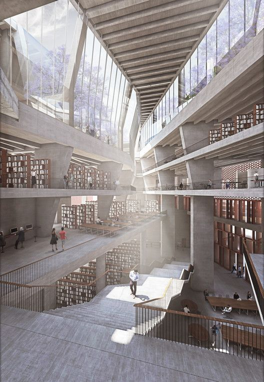 McCullough Mulvin Architects Designs University Extension in India,Courtesy of M...