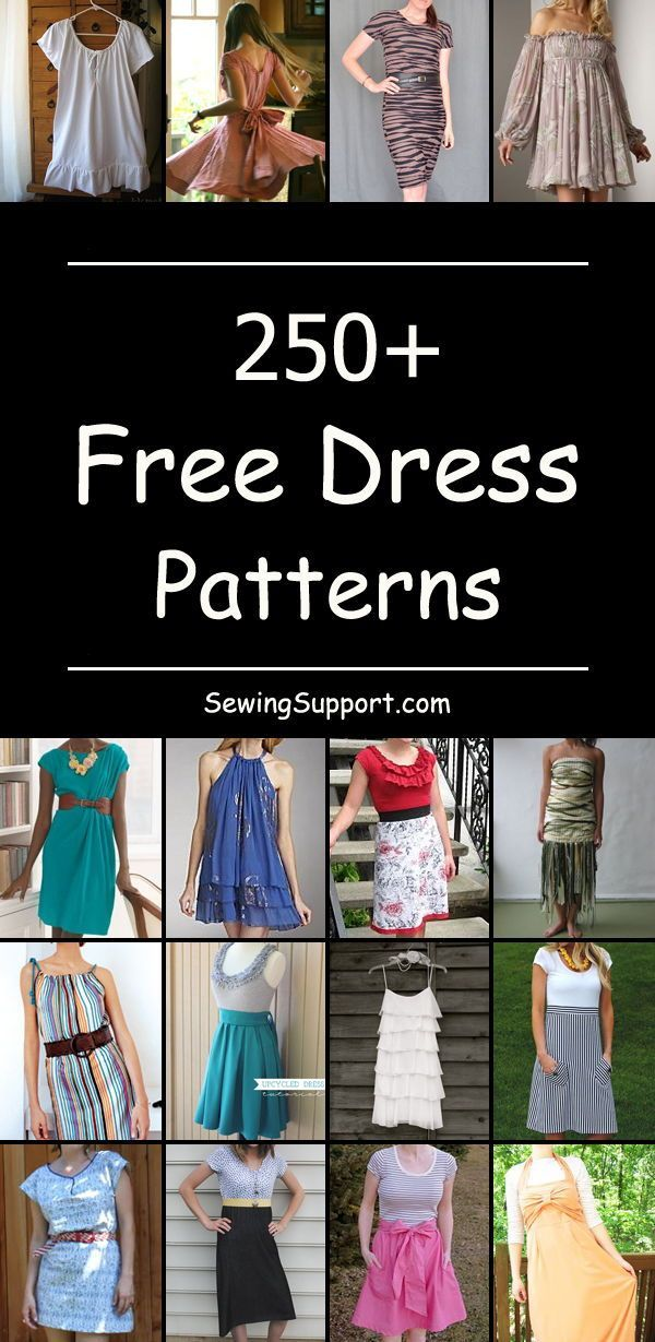 Over 250 Free Dress sewing patterns, tutorials, and diy projects for women. Lots...