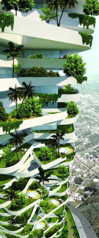 oxygen eco tower, eco friendly architecture, indonesian eco tower, jakarta eco t...