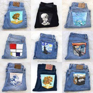 Painting jeans (5 steps with pictures) #painting #pictures #jeans #steps
