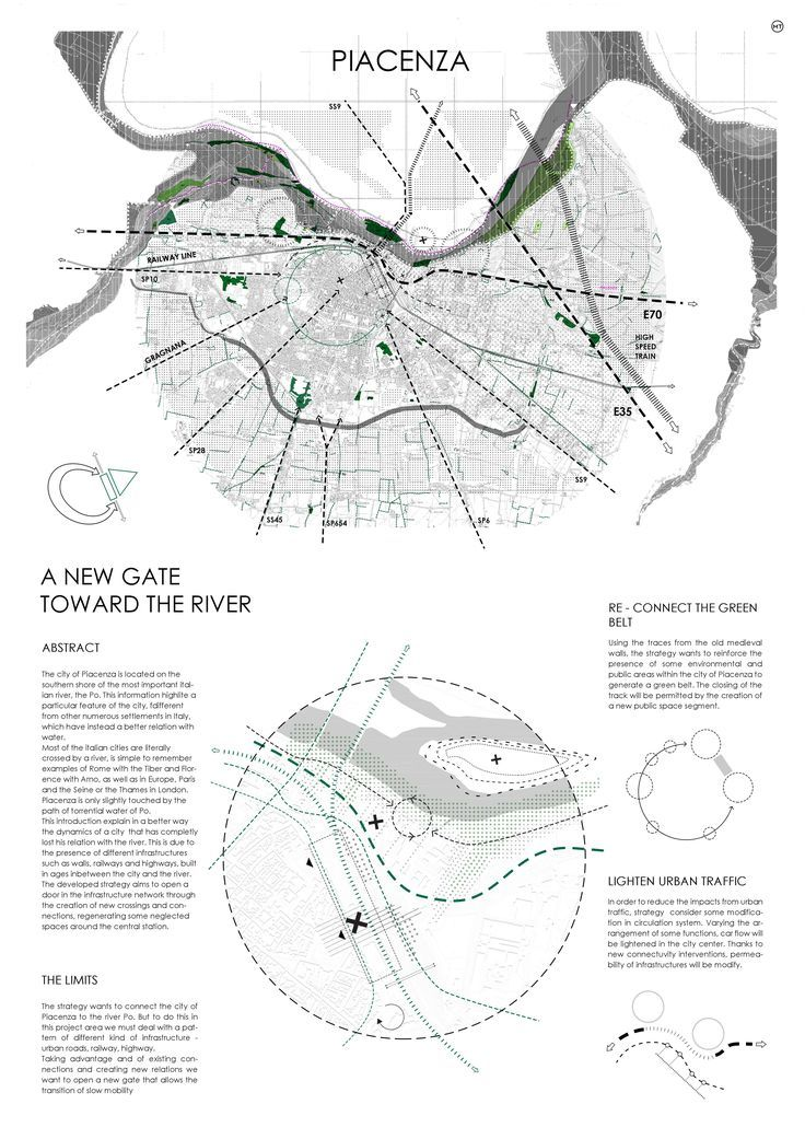 Piacenza - Urban Design - Presentation Layout 1