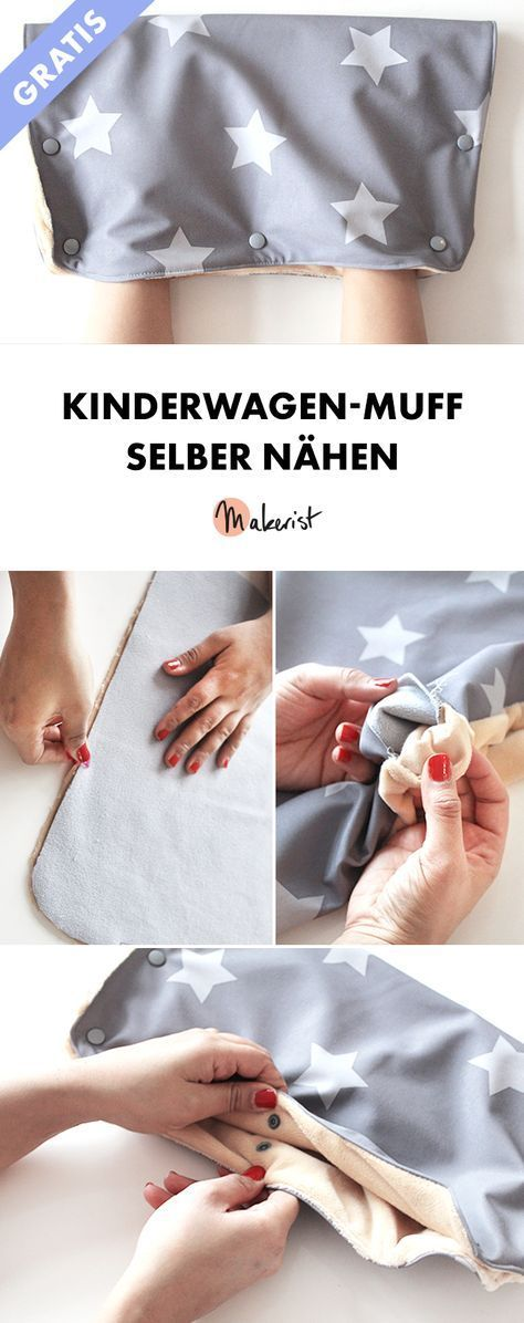 Pram muff sewing without pattern - Free sewing instructions via Makeri ...
