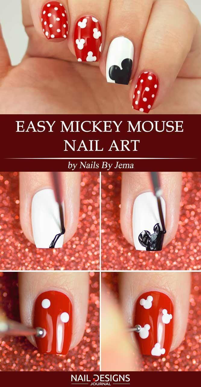 Schöne Mickey-Mouse-Nägel-Kunst-Tutorials, die Sie ausprobieren möchten  #aus...