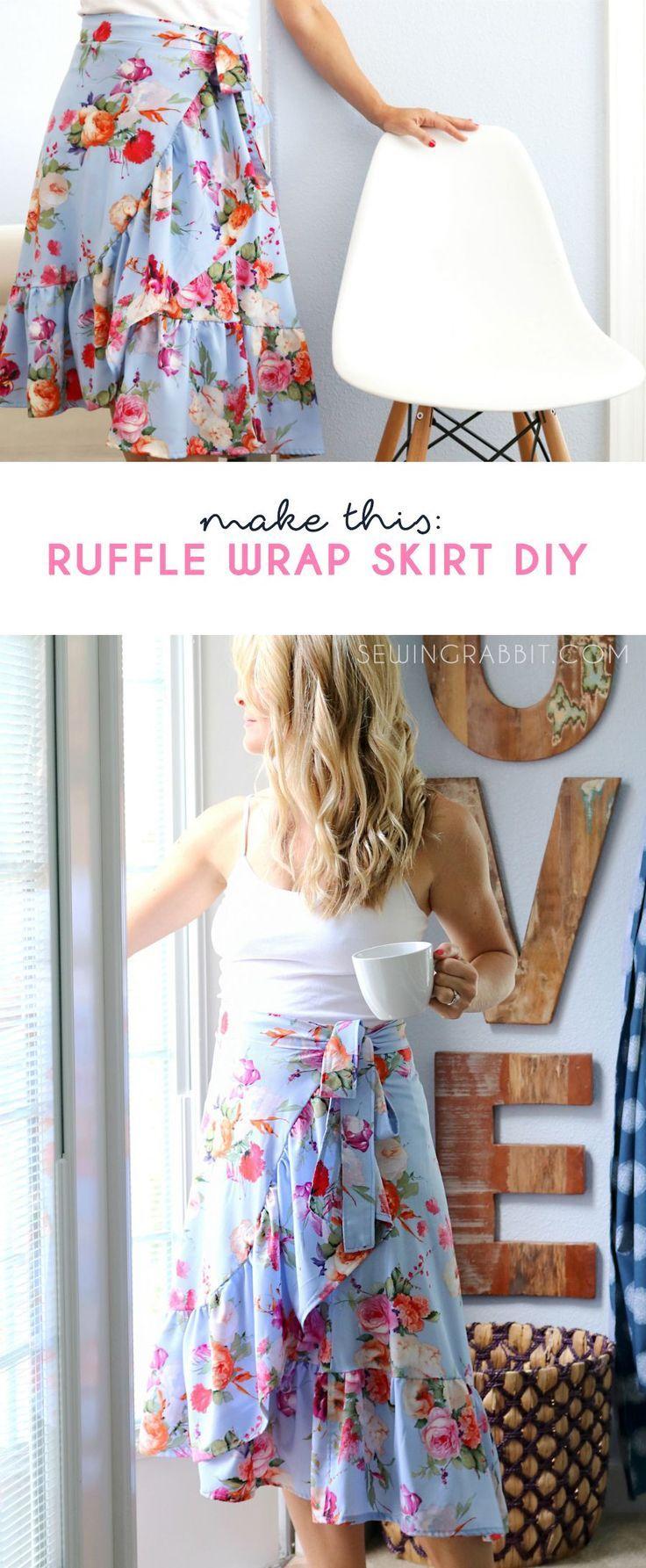 Sew a breezy bohemian style skirt, the ruffle wrap skirt! Love, Love, Love how s...