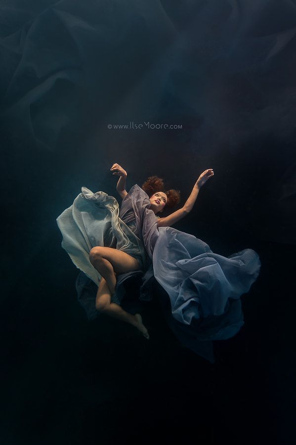 Silver Swallow Underwater Fashion by Ilse Moore Underwater Fashion Shoot for Sil...