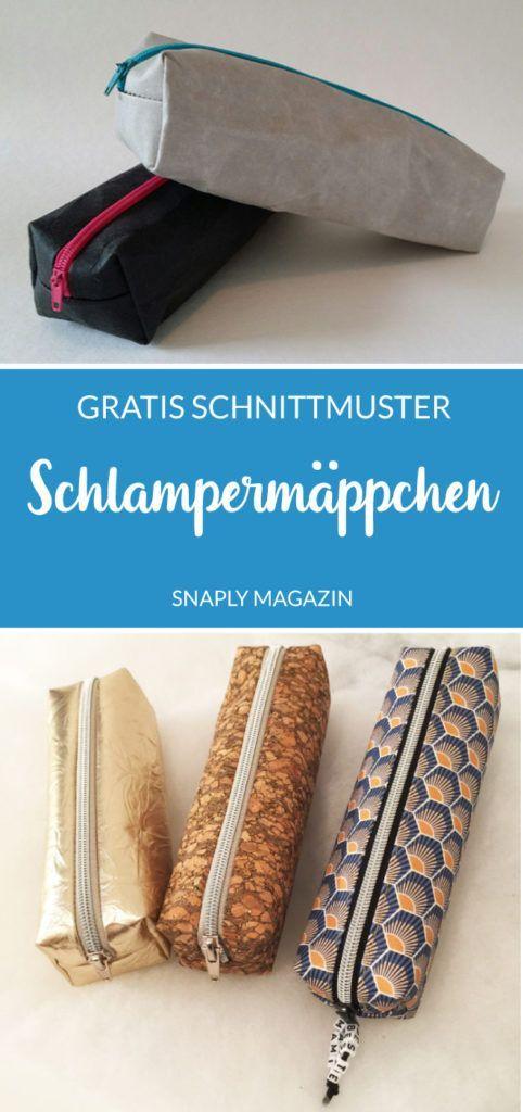 SnapPap Schlampermäppchen nähen mit diesem kostenlosen Schnittmuster inkl. DIY...