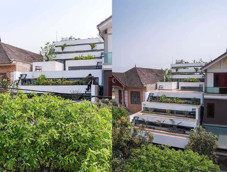 Terraces Home by H&P Architects, Terraces Home in Vietnam, Vietnamese terraced a...