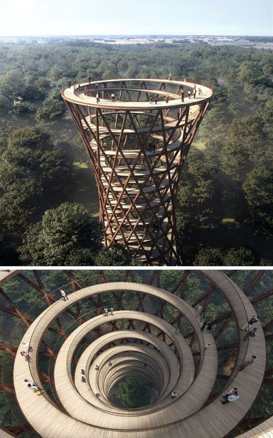 The Treetop Experience of the Camp was designed by the Danish architects EFFEKT ...