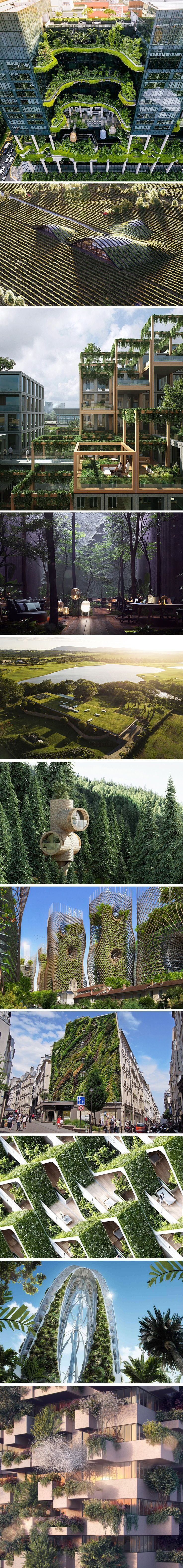 These buildings focus on creating a greener space that pays as much attention to...