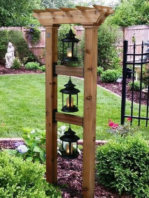 This is so cute but with bird feeders and hanging baskets! #vogelfu ...