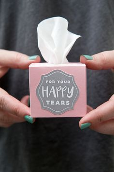 Use our free Cricut Explore file to print and cut these darling mini tissue boxe...