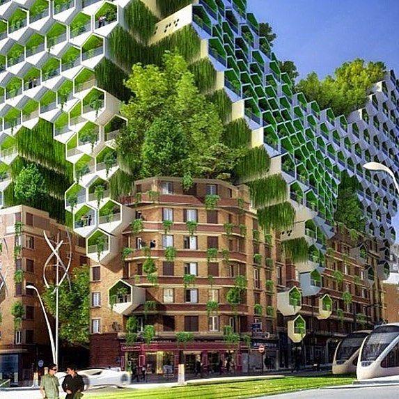 Vincent Callebaut Architecture concept for Paris: residential towers feature pho...