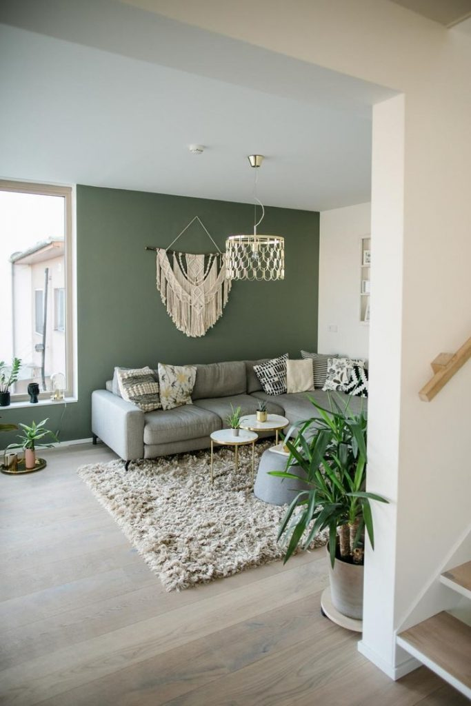 Living room with boho elements by CarolinAnneInterior! The Great Wallhanging in the ...