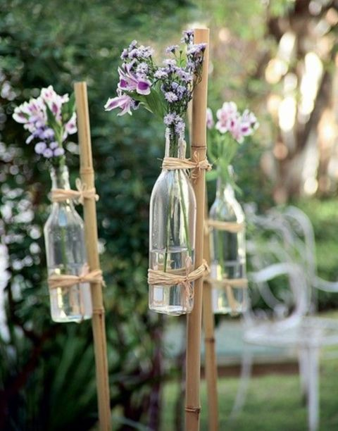 You can also decorate the way to a free wedding with flowers. For this DI ...