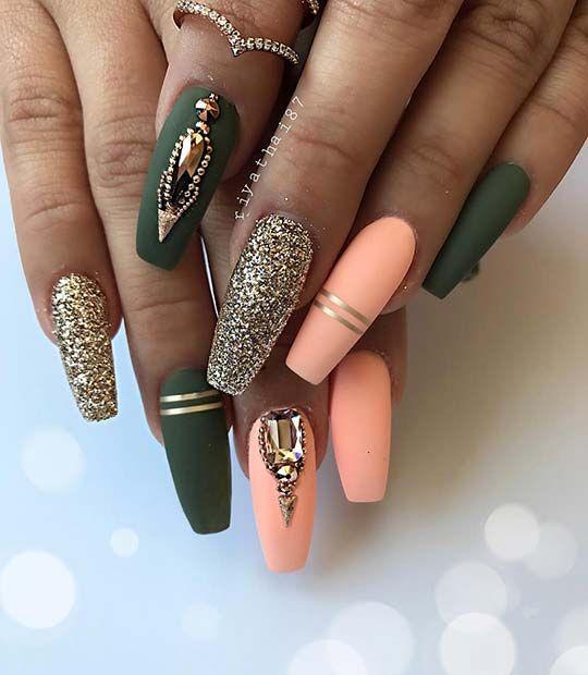 23 beautiful nail art designs for sarong nails #designs #sargnagel #schone ...