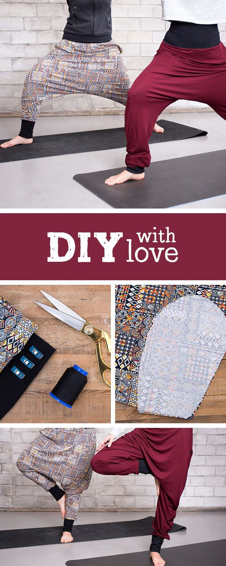 Sewing instructions for a cozy harem pants, Yogapants selbstmachen / diy sew ...