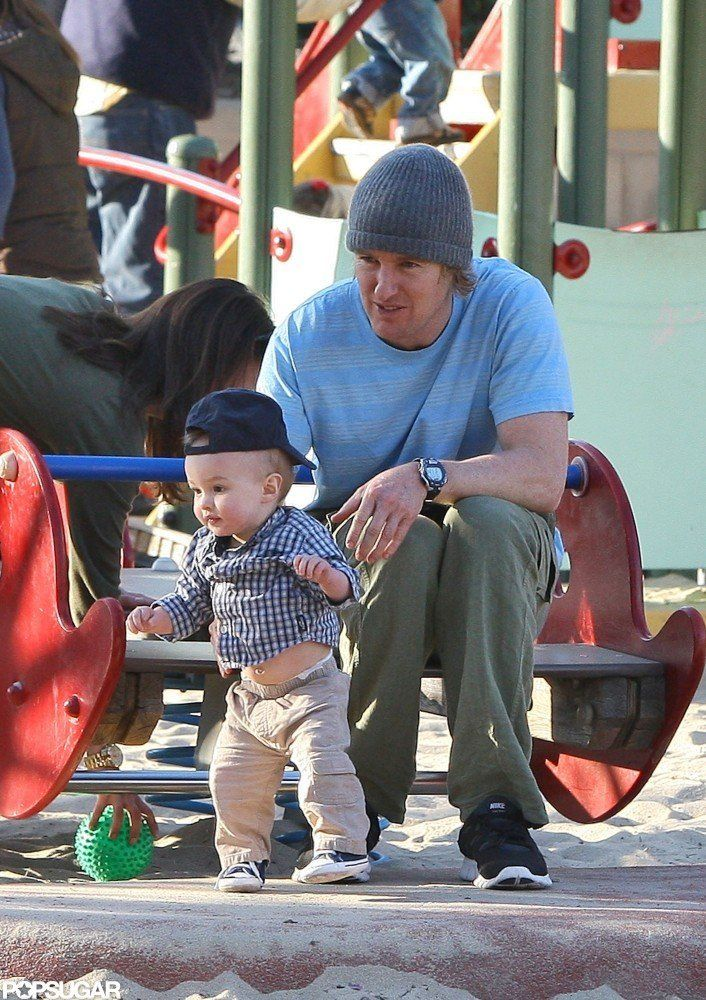 Owen Wilson and son Robert Wilson visited an LA park in December 2011.   #celebr...