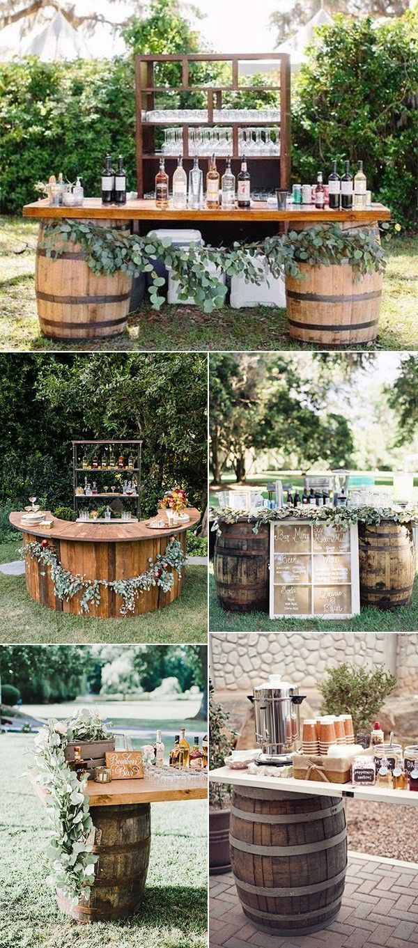 18 Perfect Wedding Drink Bar and Station Ideas for Fall Weddings...