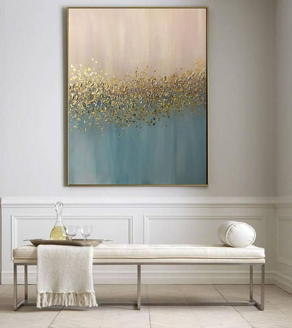 Abstract oil painting texture painting gold painting gold leaf If you have another ...