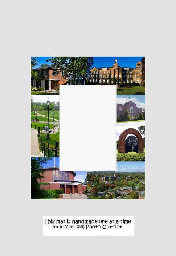 Saint Anselm College Graduation Gift, Picture Frame, Photo Mat, Unique, School, ...