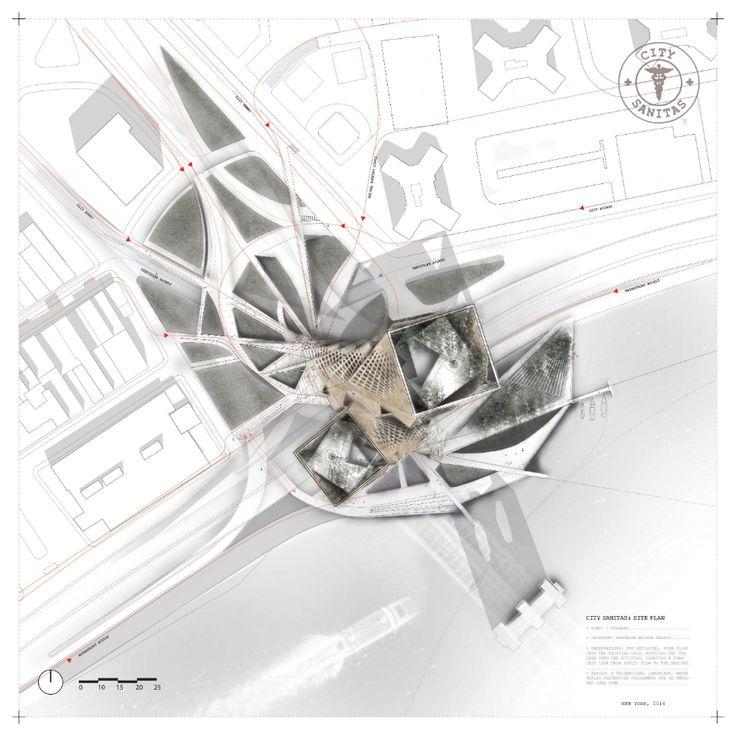 black and white site plan architecture - Google Search...