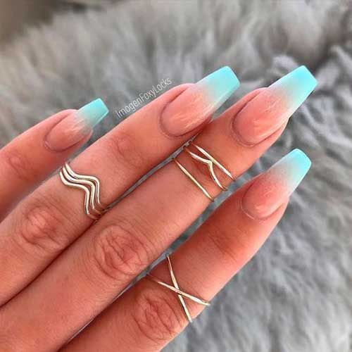 Must-See Ombre Colored Nail Designs #colored #nageldesigns #ombre,