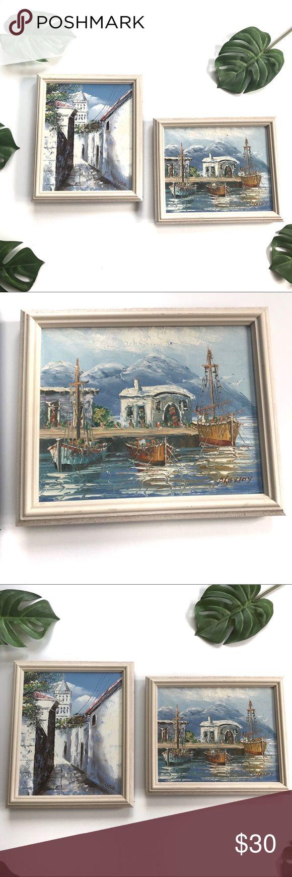 Heirloom Vintage Frame Hand Painted Greek Wall Art Heirloom Vintage Framed Hand ...