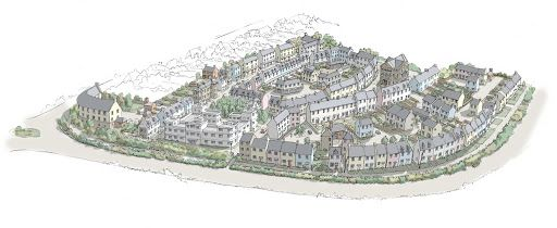 Sketch concept for Tregunnel Hill, Newquay...