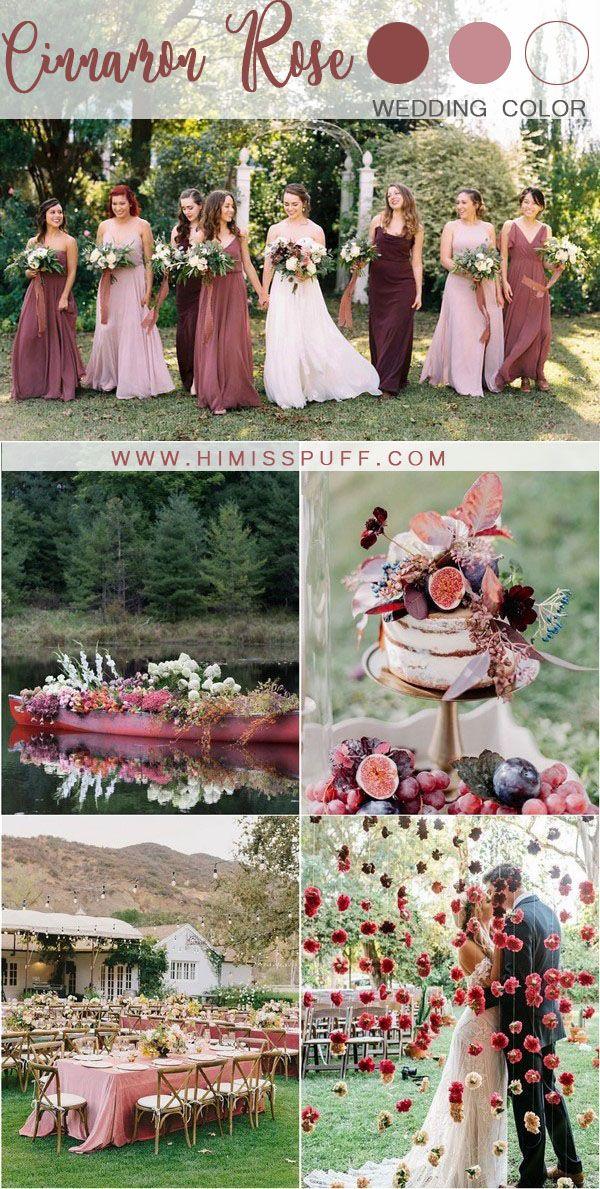 cinnamon rose dusty rose wedding color ideas #wedding #weddings #weddingideas #w...