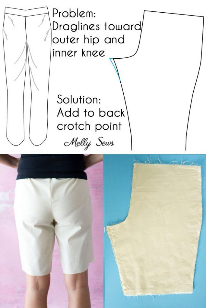 Full booty adjustment pants - Pants fitting help - How to Sew Pants that Fit - F...
