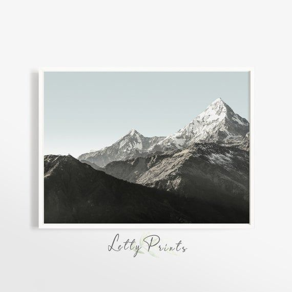 Landscape Photography, Mountain Print, Horizontal Wall Art, Nature Decor, Scandi...