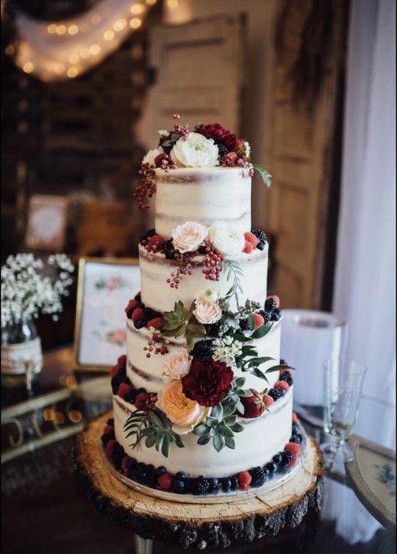 Rustic wedding cake; vintage wedding cake ideas; wedding cake toppers; wedding c...