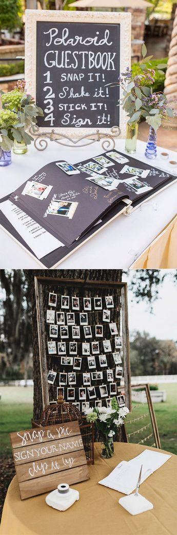 Polaroid Wedding Photo Scrapbook Ideas #Guest Book # Wedding Photo # Ideas #polar ...