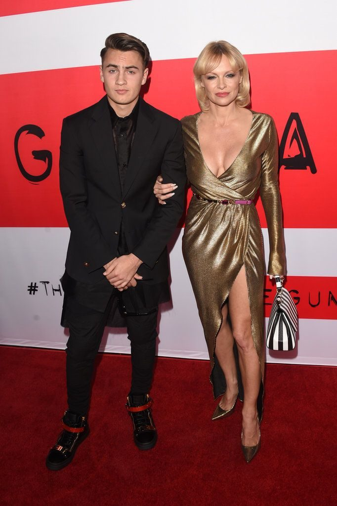 Brandon Lee and Pamela Anderson - Pictures of Celebrity Kids on the Red Carpet |...