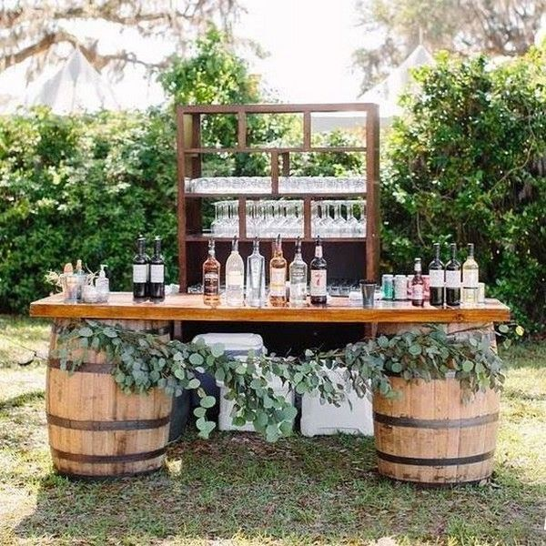 18 Perfect Wedding Drink Bar and Station Ideas for Fall Backy Weddings ...