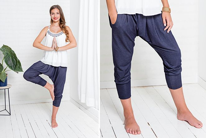 Comfortable and uncomplicated - these casual pants with low crotch are not just ...