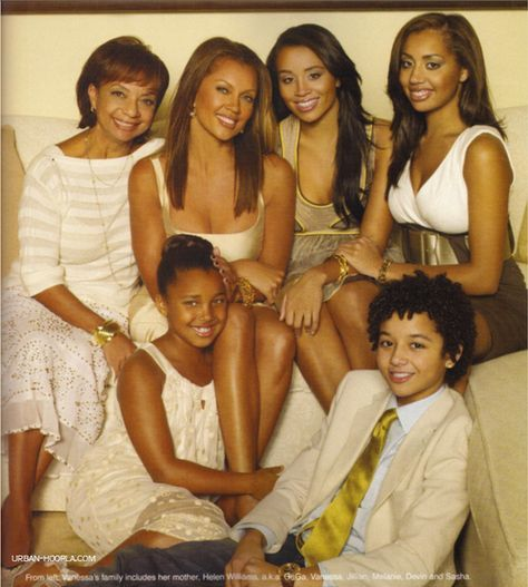 Vanessa Williams and her beautiful family - her mother, helen, kids jillian, mel...