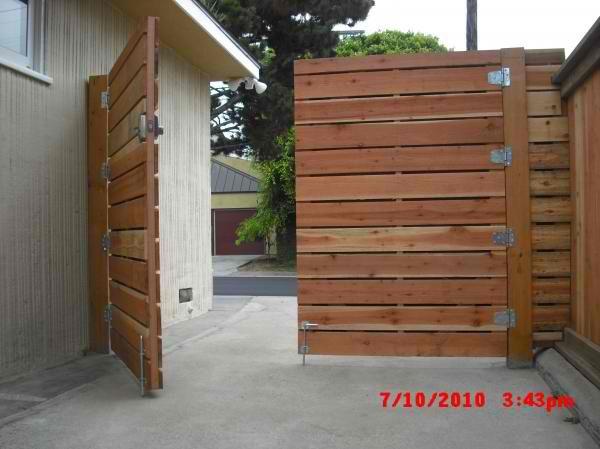 wooden driveway gates | 1x6 redwood modern horizontal privacy driveway gates, wi...