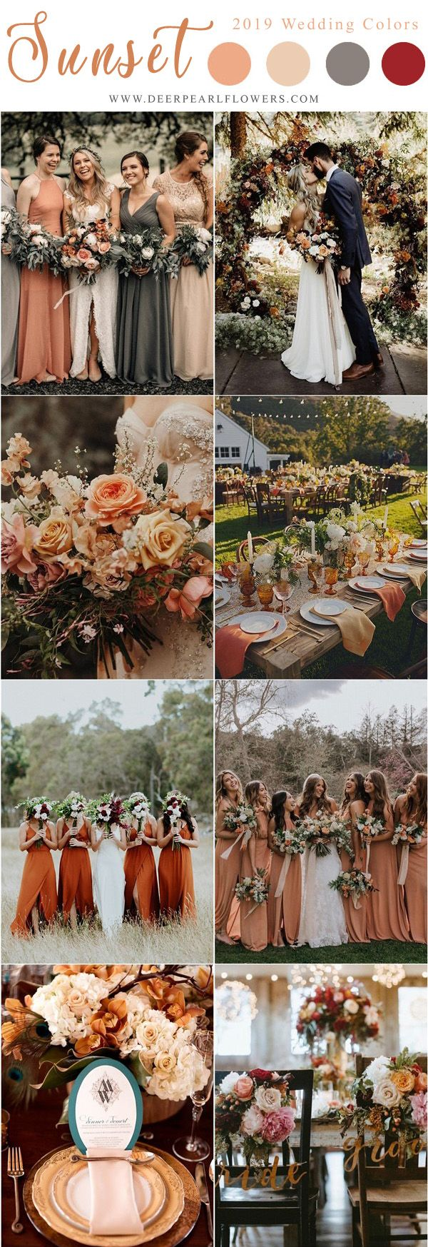 Top 10 Ideas for Wedding Color Schemes for 2019 Trends #Wedding Color Schemes