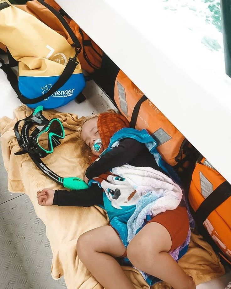 After a long day of snorkeling with Seavenger gear, this little guy is tired! ...