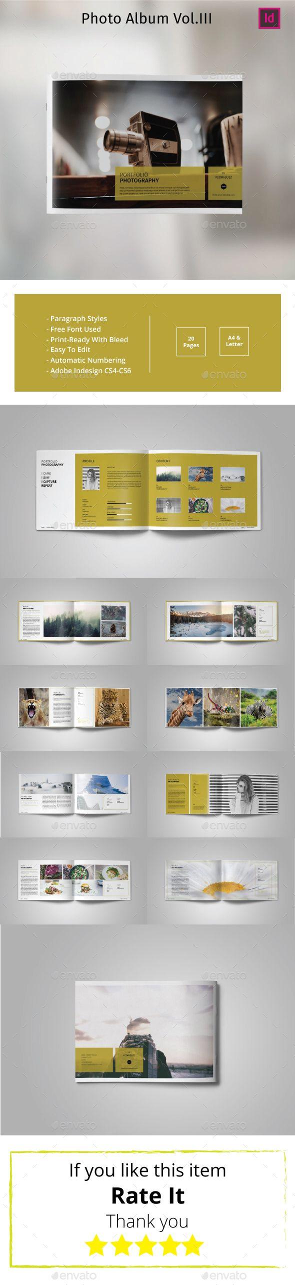 Multipurpose Landscape Photo Album Vol.III - Photo Albums Print Templates...