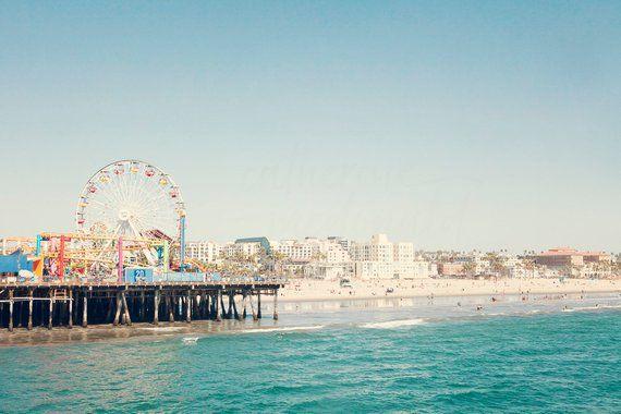 Santa Monica Pier Photography California Print Los Angeles photo Large Wal Decor...