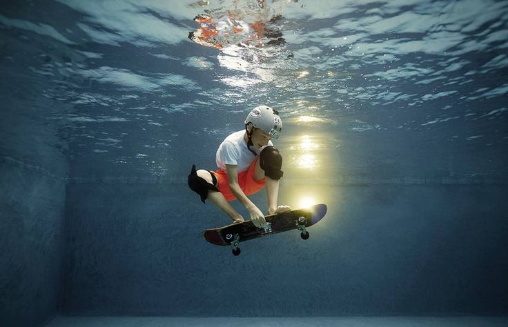 Underwater Photography of Children Playing Sports...