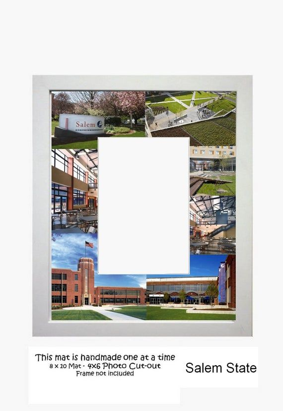 Salem State University Picture Frame Photo Mat Unique Gift School Graduation Per...