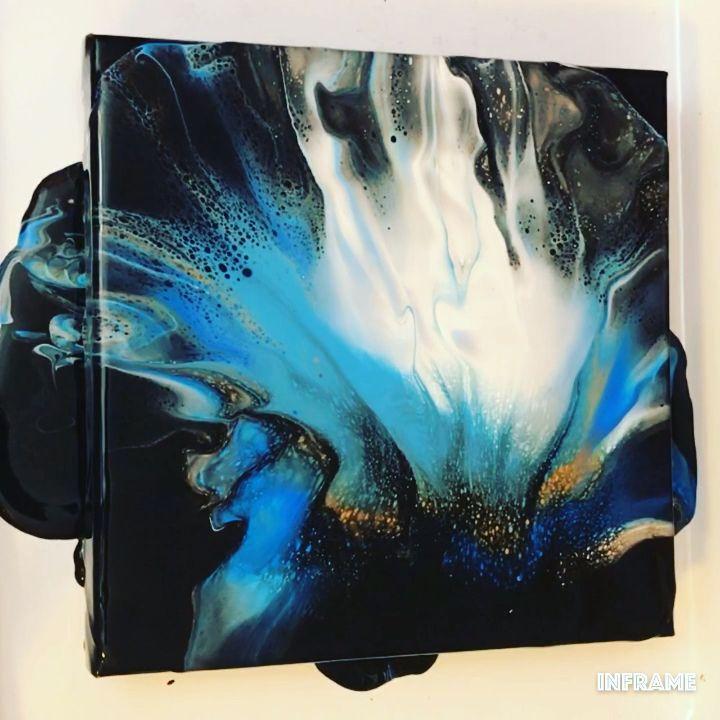 Fluid Acrylic Painting Video - Dutch Pour