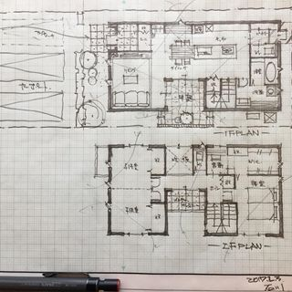 House with courtyard #Hand drawn #Handwritten #Architecture #Design #Layout #Custom house #New ...