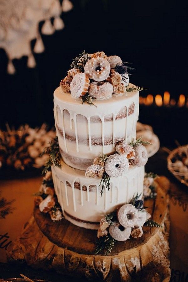 Trending-18 Delicious Wedding Cake Ideas with Doughnuts...