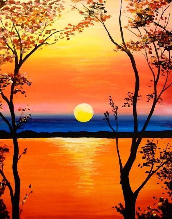 110 Simple Ideas for Acrylic Painting for Beginners to Try - #Acrylic Painting