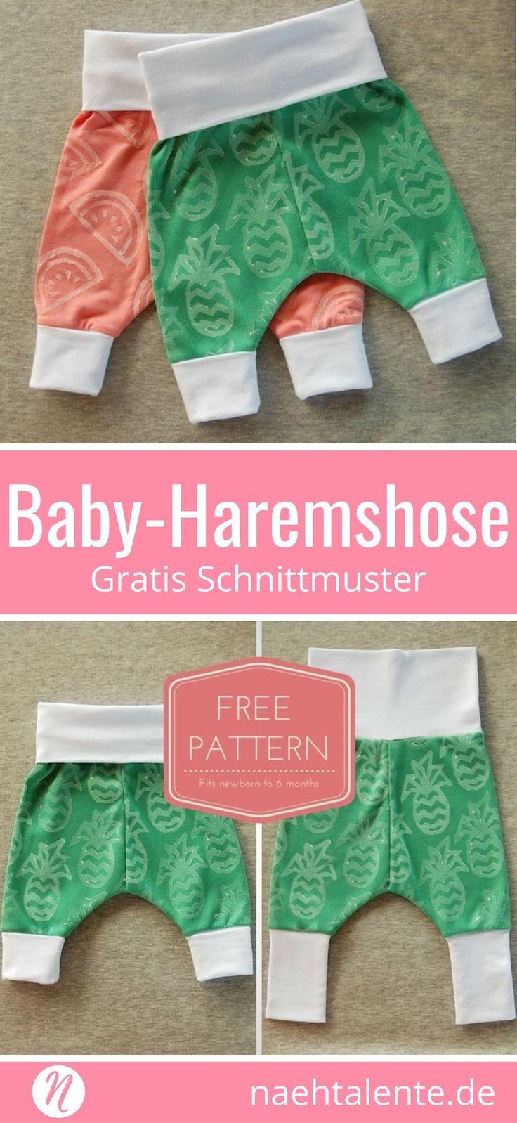 Freebook Baby Harem Pants ❤ Free printing pattern ❤ lightweight ...